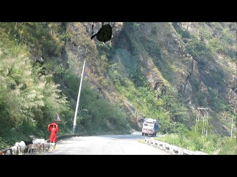 Kathmandu to Pokhara Beautiful High Way Road Nepal Tourism