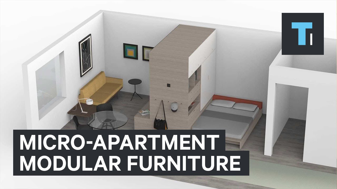 Beautiful Micro Apartment Modular Furniture   YouTube