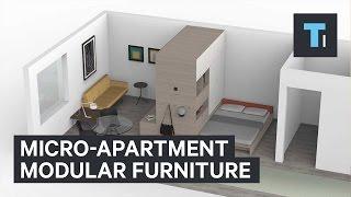 Micro-apartment modular furniture