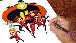 How To Draw Incredibles 2 : Draw Incredible Family : INCREDIBLES 2 Drawing for kids