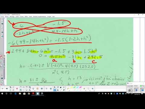 Systèmes-parabole-résoudre exemple d'un problème moins familier