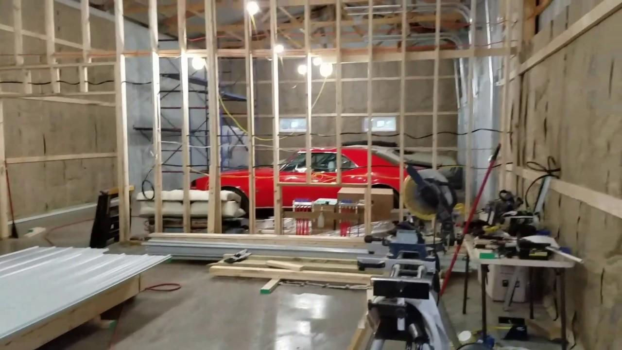 Pole Barn Inside Tin Youtube