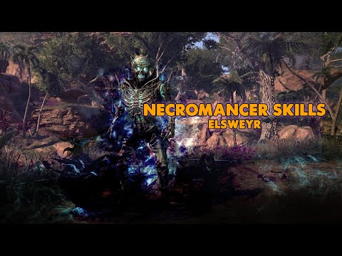 ESO - Necromancer Class Skills, Ultimates & Passives! - (Elsweyr)