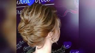 Репетиция свадебной причёски на короткий волос