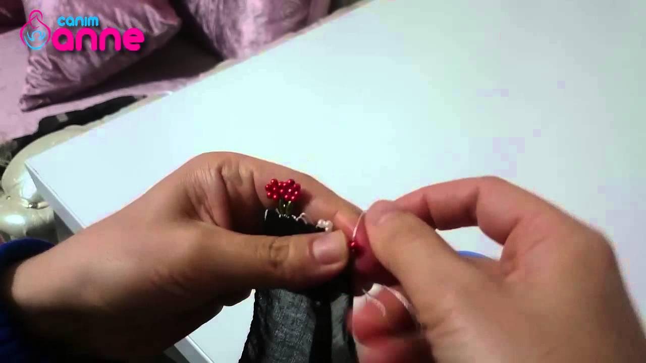 İğne Oyası Boncu ile Çiçek Yapımı , Canım Anne