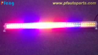 RGB color remote control flashing LED light bar