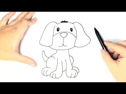Como dibujar un perrito paso a paso! - YouTube