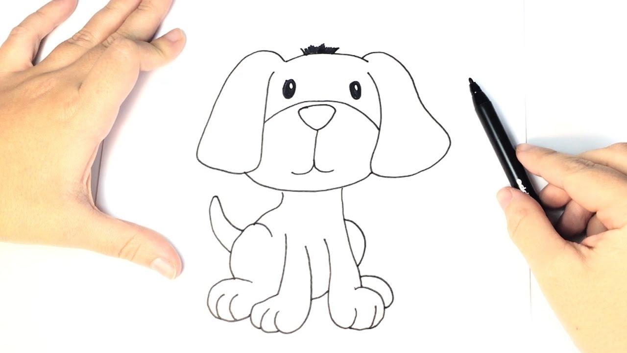 C mo dibujar un perro para ni os dibujo f cil de perro for Comedor facil de dibujar
