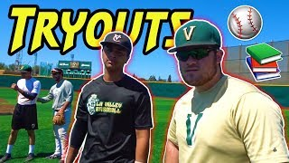 VLOGGING DURING A COLLEGE BASEBALL TRYOUT!!