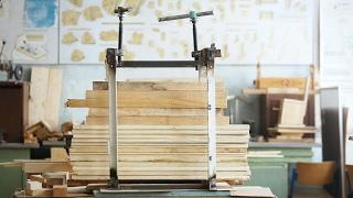 Пресс для объемной склейки древесины