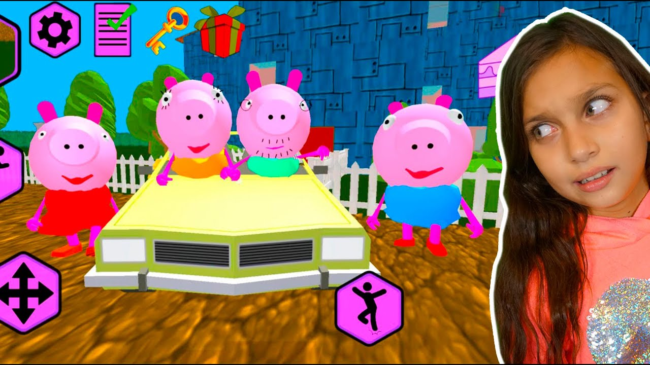 СЕМЕЙКА ПИГГИ! Piggy Neighbor! Свинка Пеппа и ее семейка ДЕЛАЮ КОНЦОВКУ против Прохождение Валеришка