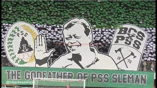 "(HD) Amazing Koreo 3D Brigata Curva Sud ""SUPARJIONO THE GODFATHER OF PSS SLEMAN"" PSS Vs Timnas U-19"