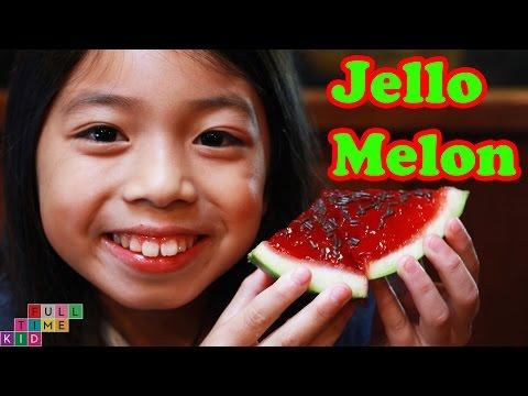 Jello (Gelatin) Watermelon | Full-Time Kid