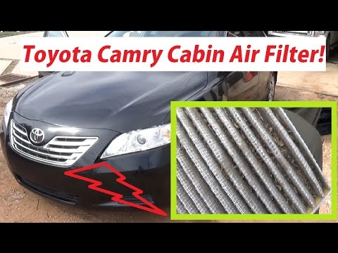 toyota camry cabin air filter replacement in 1 minute 2007 2011 toyota camry youtube. Black Bedroom Furniture Sets. Home Design Ideas