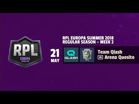 TEAM QLASH vs ARENA QUESITO - RPL EUROPA SUMMER 2018 - JORNADA 2 | CLASH ROYALE | REVOL AIMAR |