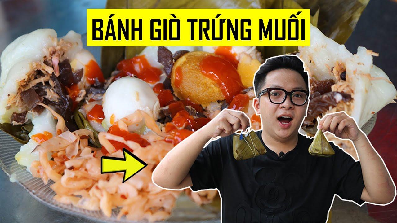 Lạ miệng với món bánh giò trứng muối ở Sài Gòn