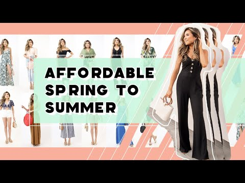 Fashion Finds - AFFORDABLE Spring to Summer Outfit Lookbook