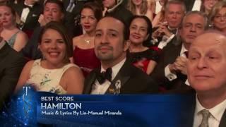 acceptance speech best score lin manuel miranda 2016