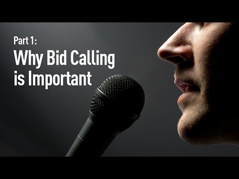 How to Win an Auctioneer Contest: Part 1 - Why Bid Calling is Important