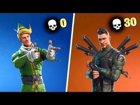 0 KILL WINNER vs 30 KILLS WINNER in Fortnite