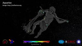 Constellations in 3D. Aquarius