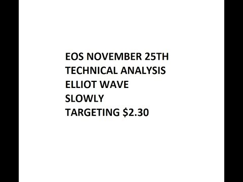 EOS November 25 Technical Analysis and Price Forecast, Elliot Wave, Correction first then uptrend