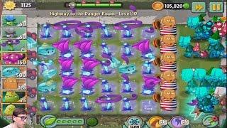 Играю в Plants vs Zombies 2 - Бесконечный режим - Highway to the Danger Room 1-10