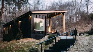 A Cozy Shipping Container Cabin Hidden In The Woods