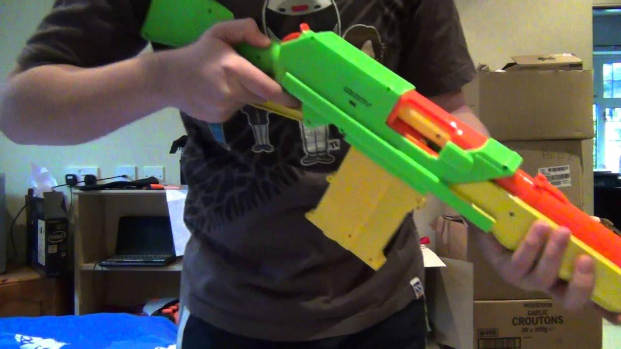 Buzz bee Rapid Fire Tek Rifle Review - YouTube