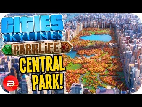 Cities Skylines Parklife - Central Park Park! #20 Cities Skylines Parklife DLC