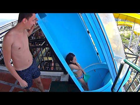 Loop Blue Water Slide at Adaland