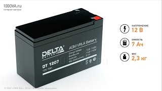 видео Купить аккумулятор Delta DT 1218
