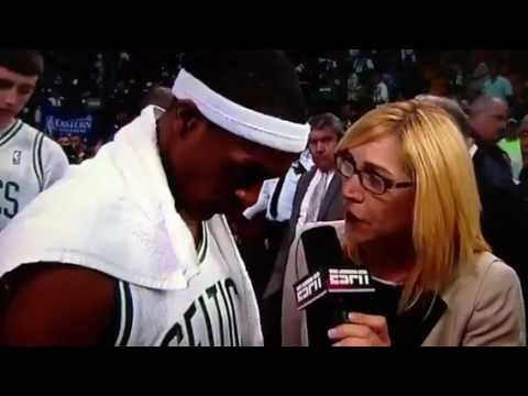 Rajon Rondo's awkward interview with Doris Burke