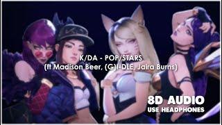[8D AUDIO]KDA - POP/STARS (ft Madison Beer, (G)I-DLE, Jaira Burns) [use headphones]