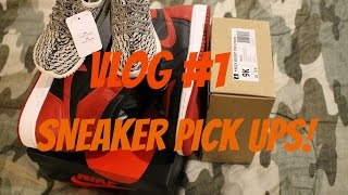 FIRST VLOG?! NEW SNEAKER PICK UPS!! YEEZYS & BANNED 1S #GONZOGOTGAME!