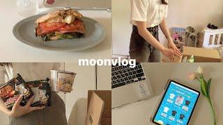 大学生の日常vlog・朝活をした日🌞 /韓国のお友達とお菓子交換🌼・マルゲリータの味がしたパン・kemiostore可愛すぎる😭