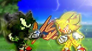Dark Sonic Vs Fleetway Super Sonic (Sprite Animation) #PedroSonicoCollab2