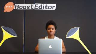 Boost Editor product video