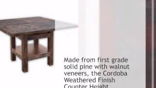 Cordoba Weathered Finish Counter Height Table - Lonestarwesterndecor.com