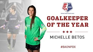 Thorns FC goalkeeper Michelle Betos voted 2015 NWSL Goalkeeper of the Year