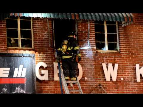 Commercial Structure Fire George W. Kinsman Inc. Honesdale PA.