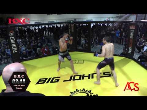 B.X.C 135 Lbs Bantam Weight Championship Spencer Pine Vs. David Firlotte