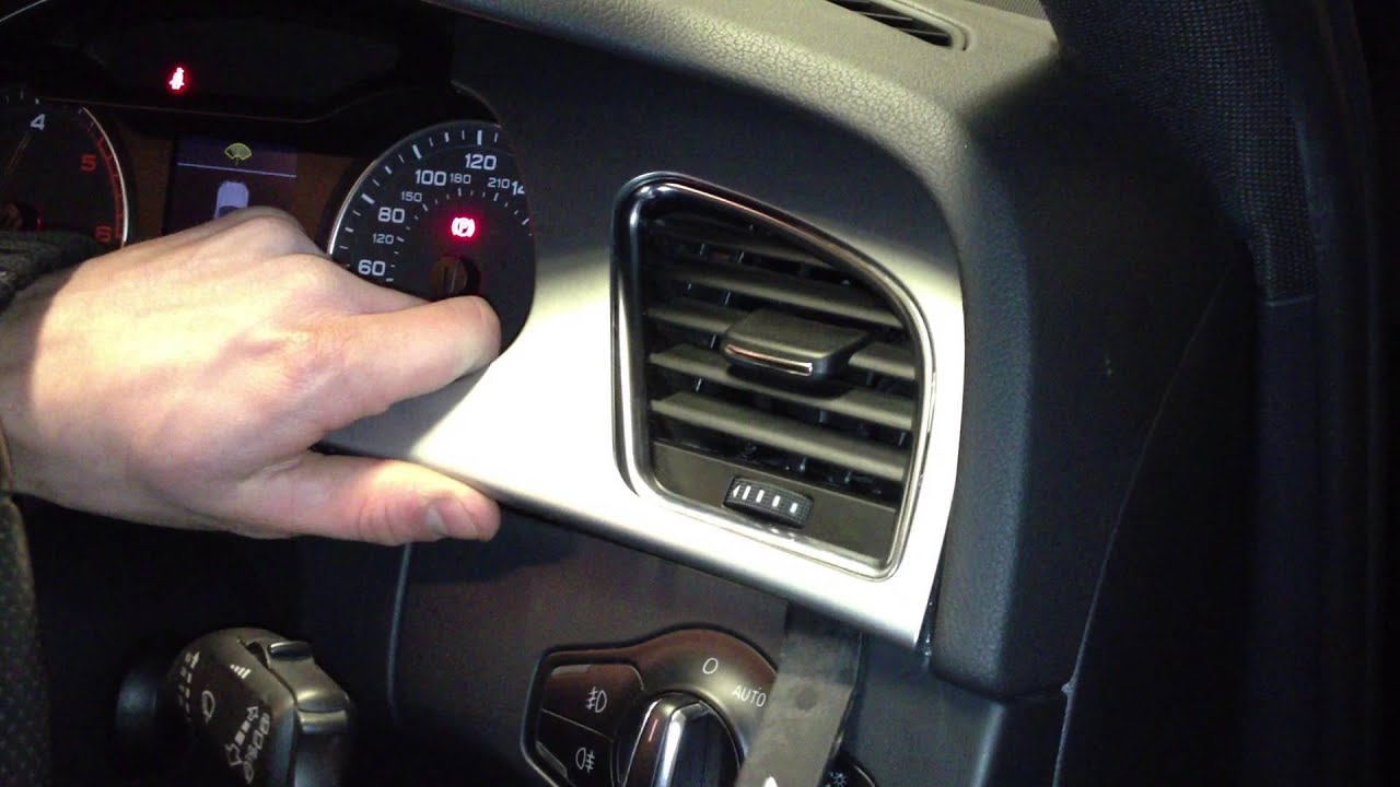 Audi A4 S4 B8 Speedo And Air Vent Trim Removal With A Bojo