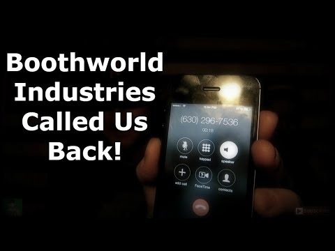 BOOTHWORLD INDUSTRIES CALLED US BACK! Scary Phone Calls! (630)-296-7536 - Paranormal America
