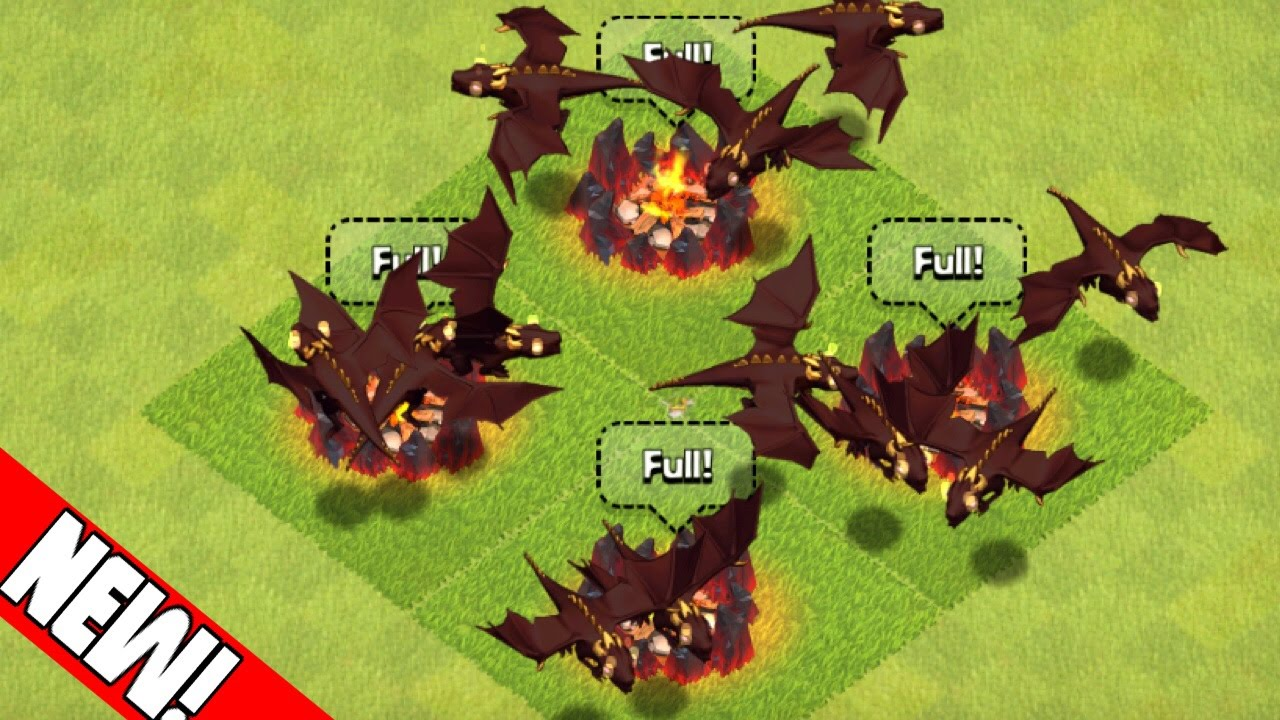 Clash Of Clans 24 Level 5 Dragons Attacks Max Level Dragons