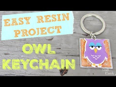 DIY Owl Resin Keychain | Craft Klatch