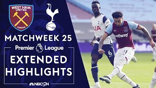 West Ham v. Tottenham | PREMIER LEAGUE HIGHLIGHTS | 2/21/2021 | NBC Sports