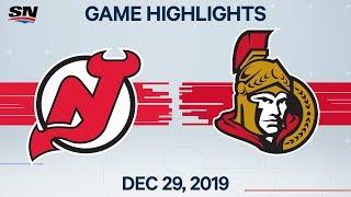 NHL Highlights   Devils vs. Senators - Dec. 29, 2019