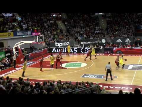 """BBL league. BC """"Bayern Munchen"""" 100 vs 86 BC """"Medi Bayreuth"""". 03/12/2017"""