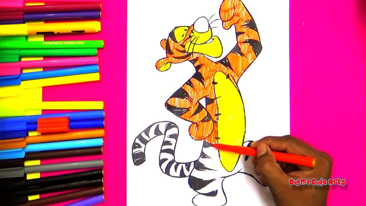 winnie the pooh tigger coloring pages coloring book for kids